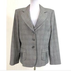Tahari Women's Blazer Jacket Size 14 XL Plaid L/S